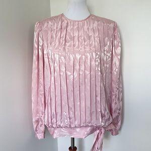 IN THE MOOD Vintage Pink Metallic Blouse